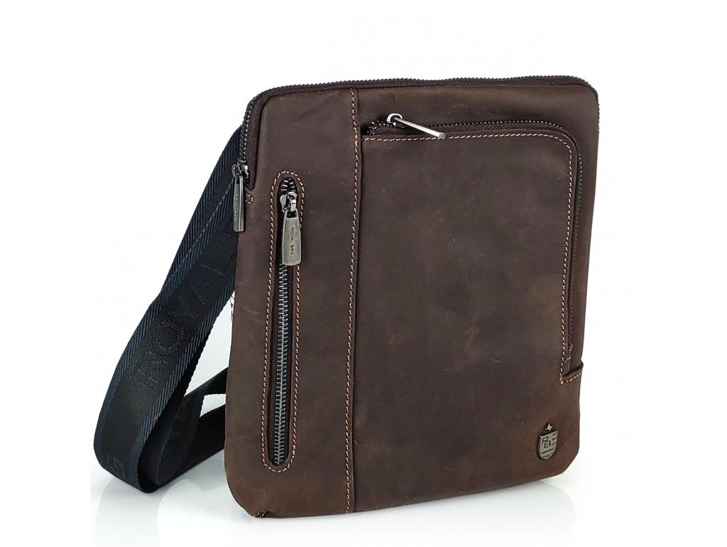 Мужская кожаная сумка в винтажном стиле Royal Bag Royal Bag RB-V-JMD4-0030C - Royalbag Фото 1