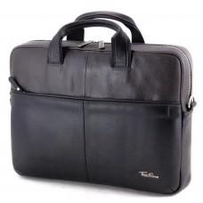 Мужская деловая кожаная сумка для ноутбука Tom Stone 304BG - Royalbag