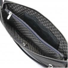 Мужская кожаная черная барсетка Tom Stone K2T- В - Royalbag