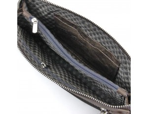 Мужская кожаная коричневая барсетка Tom Stone K2T-BR - Royalbag