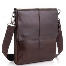 Мужская кожаная сумка через плечо мессенджер Bexhill BX8005C - Royalbag Фото 2