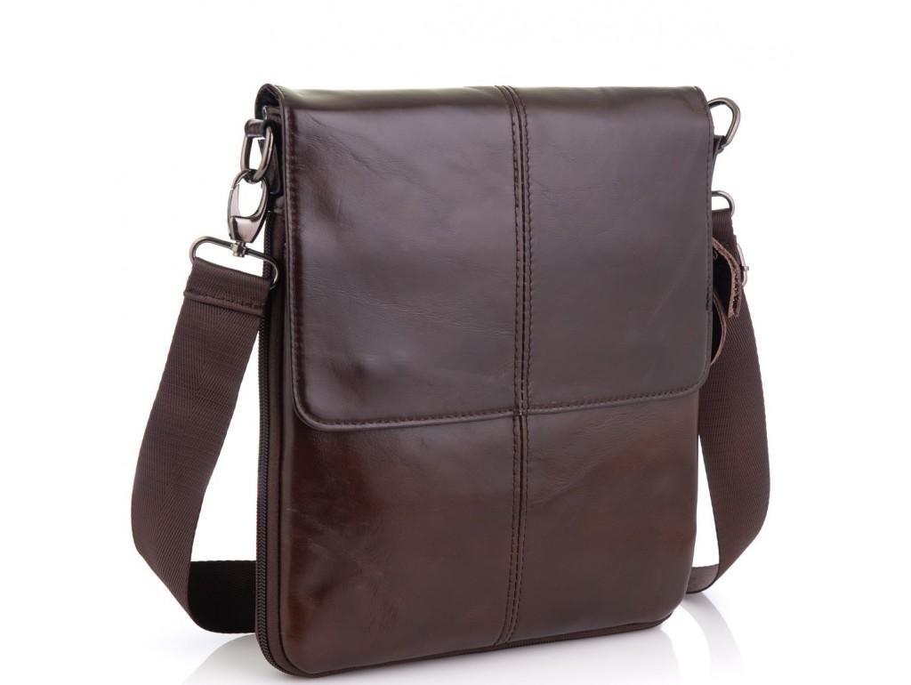 Мужская кожаная сумка через плечо мессенджер Bexhill BX8005C - Royalbag Фото 1