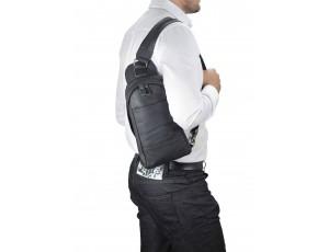 Рюкзак слинг мужской черный Bexhill BX9106A - Royalbag
