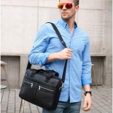 Мужская кожаная сумка для документов и ноутбука Bexhill Bx1120A - Royalbag