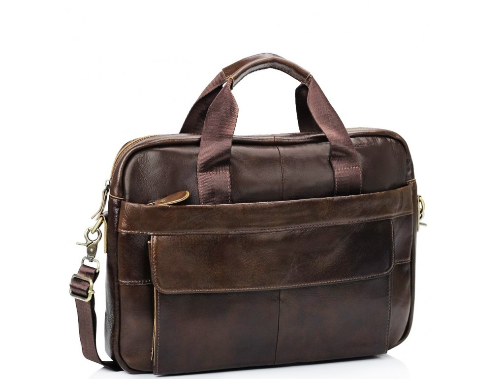 Мужская кожаная сумка для ноутбука и документов Bexhill Bx1131C - Royalbag Фото 1