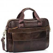 Мужская кожаная сумка для ноутбука и документов Bexhill Bx1131C - Royalbag Фото 2
