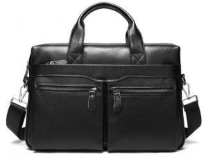 Офисная мужская кожаная сумка для ноутбука и документов Bexhill A25-7122A - Royalbag