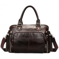 Мужская кожаная дорожная сумка Bexhill Bx8535C - Royalbag