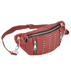 Жіноча сумка на пояс червона еко-шкіра Bitti WB01-013R - Royalbag