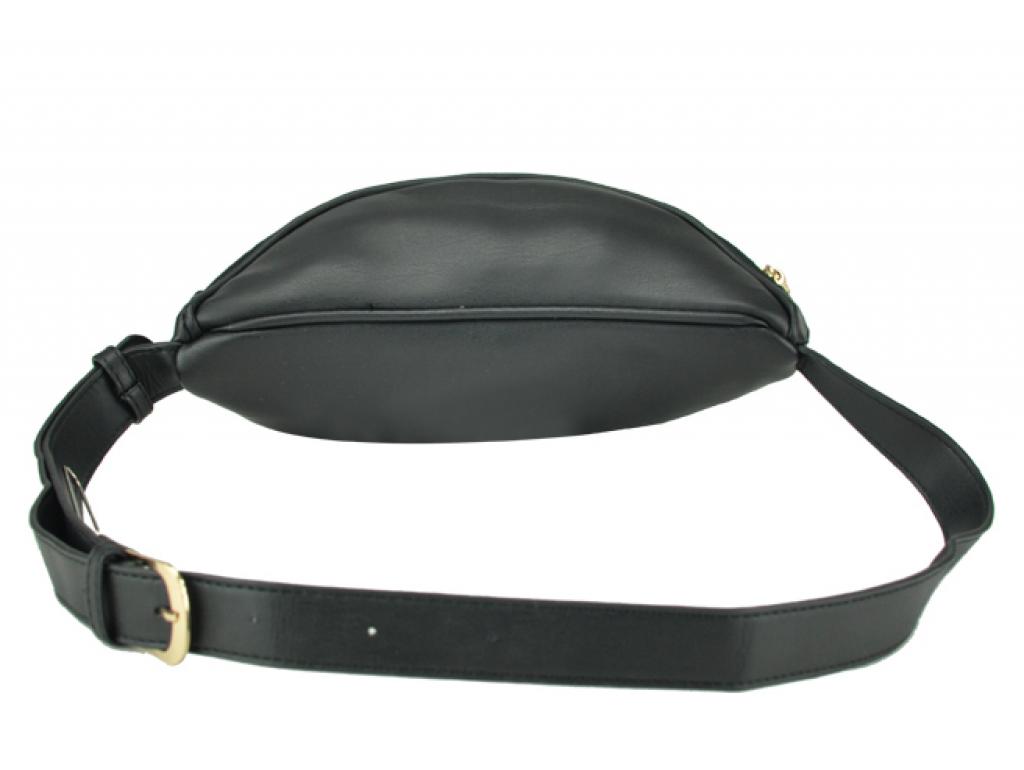 Жіноча сумка на пояс з еко-шкіри чорна Bitti WB01-015A - Royalbag