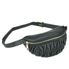 Женская сумка на пояс из эко-кожи черная Bitti WB01-015A - Royalbag