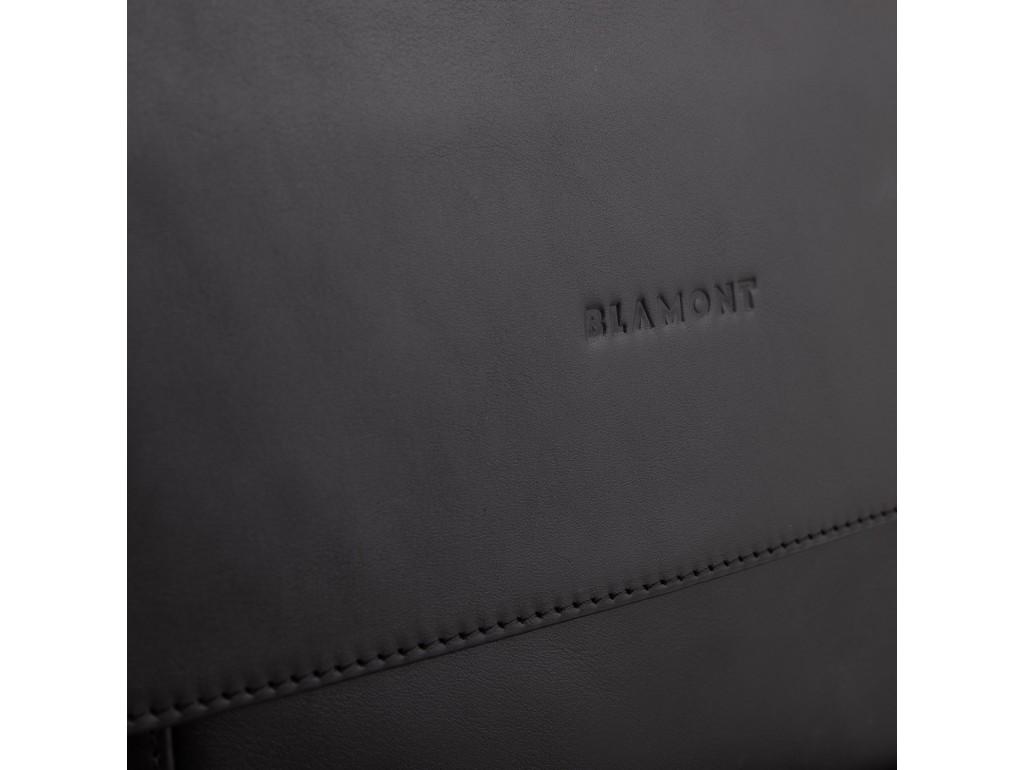 Сумка через плечо мужская черная Blamont Bn082A-1 - Royalbag