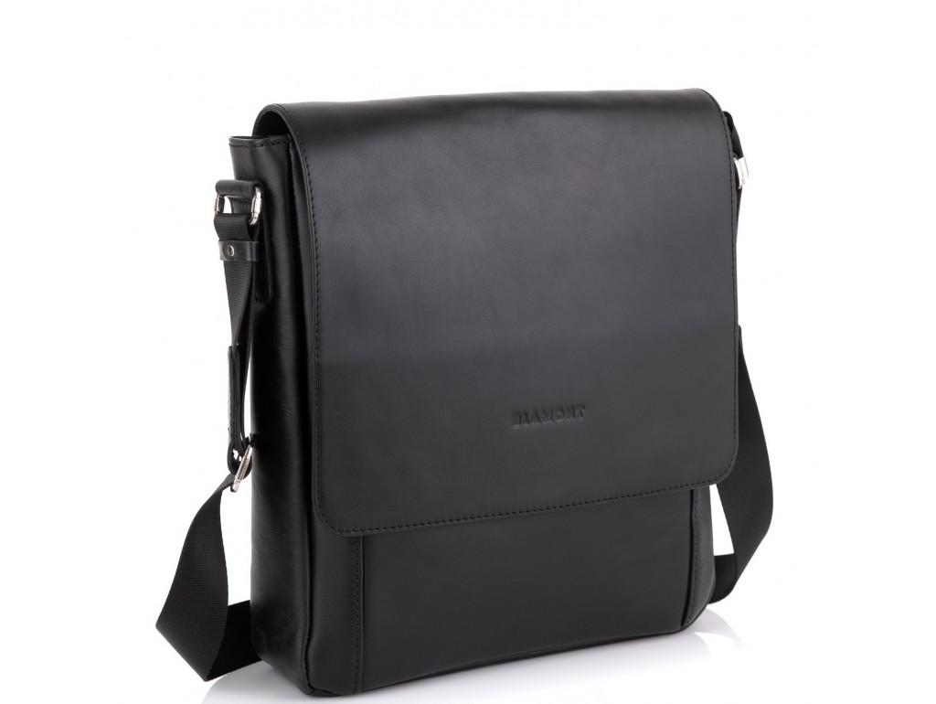Сумка через плечо мужская черная Blamont Bn082A-1 - Royalbag Фото 1