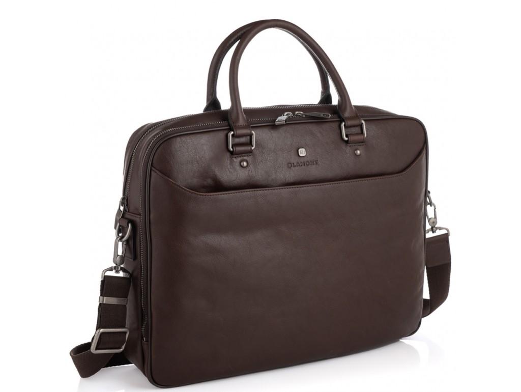 Сумка-портфель мужская кожаная Blamont P5912061C - Royalbag Фото 1