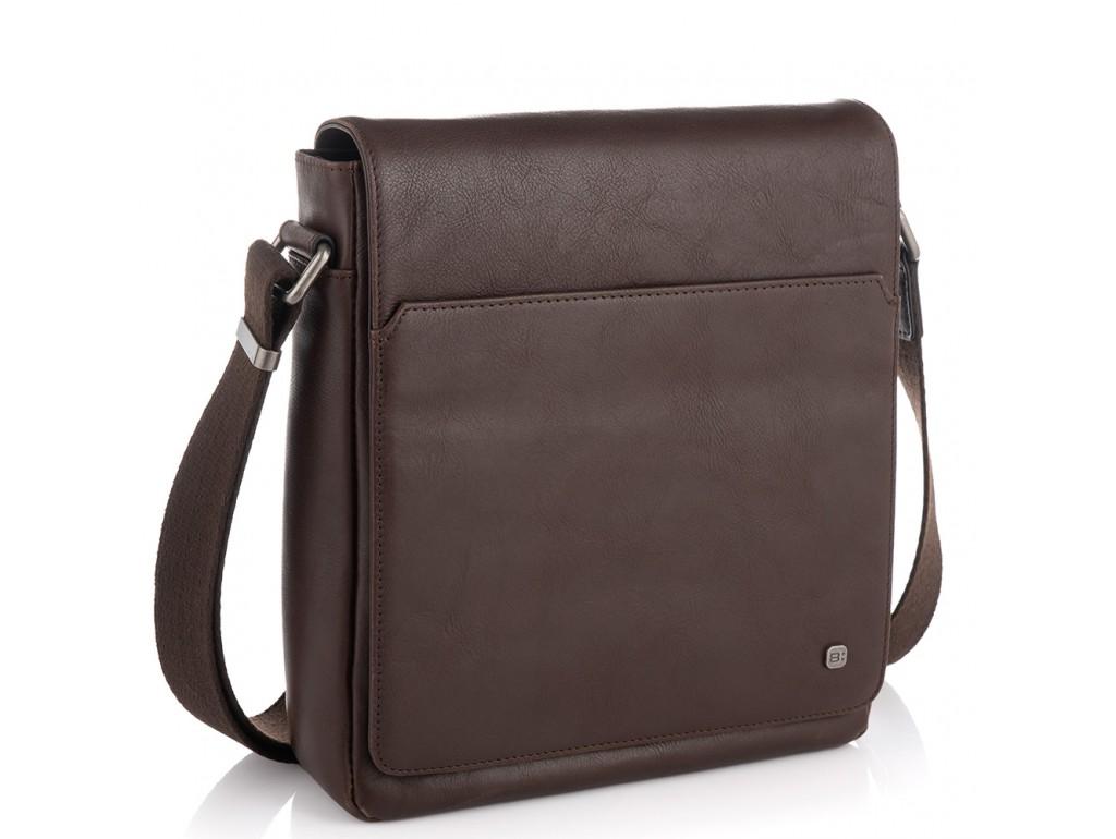 Мужская кожаная сумка через плечо с клапаном Blamont P7912021C - Royalbag Фото 1