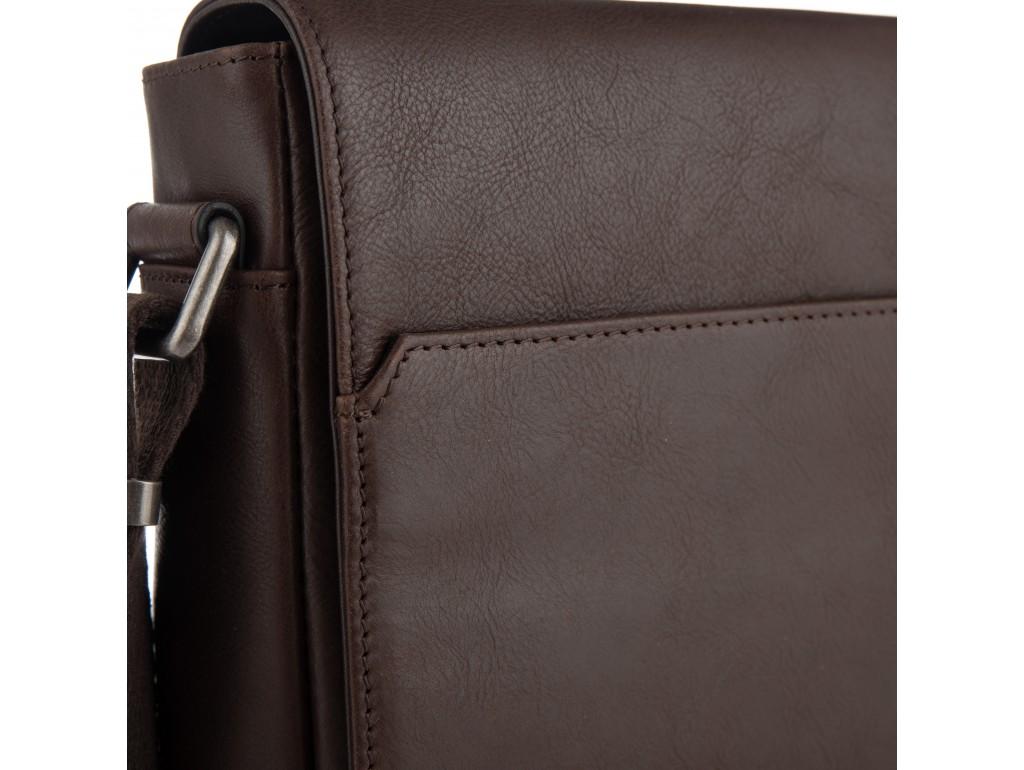 Мужская кожаная сумка через плечо с клапаном Blamont P7912021C - Royalbag