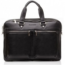 Сумка-портфель мужская кожаная для документов элитная Blamont Bn001A - Royalbag