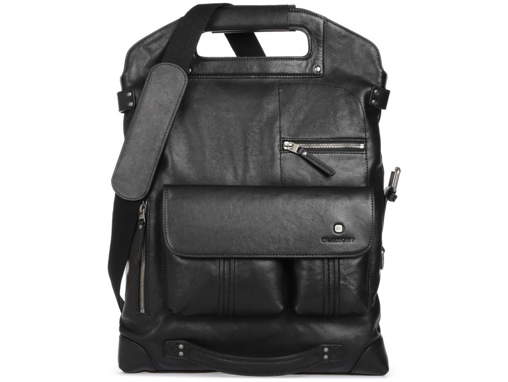 Мужская сумка-трансформер премиум класса итальянская натуральная кожа Blamont P5892211 - Royalbag