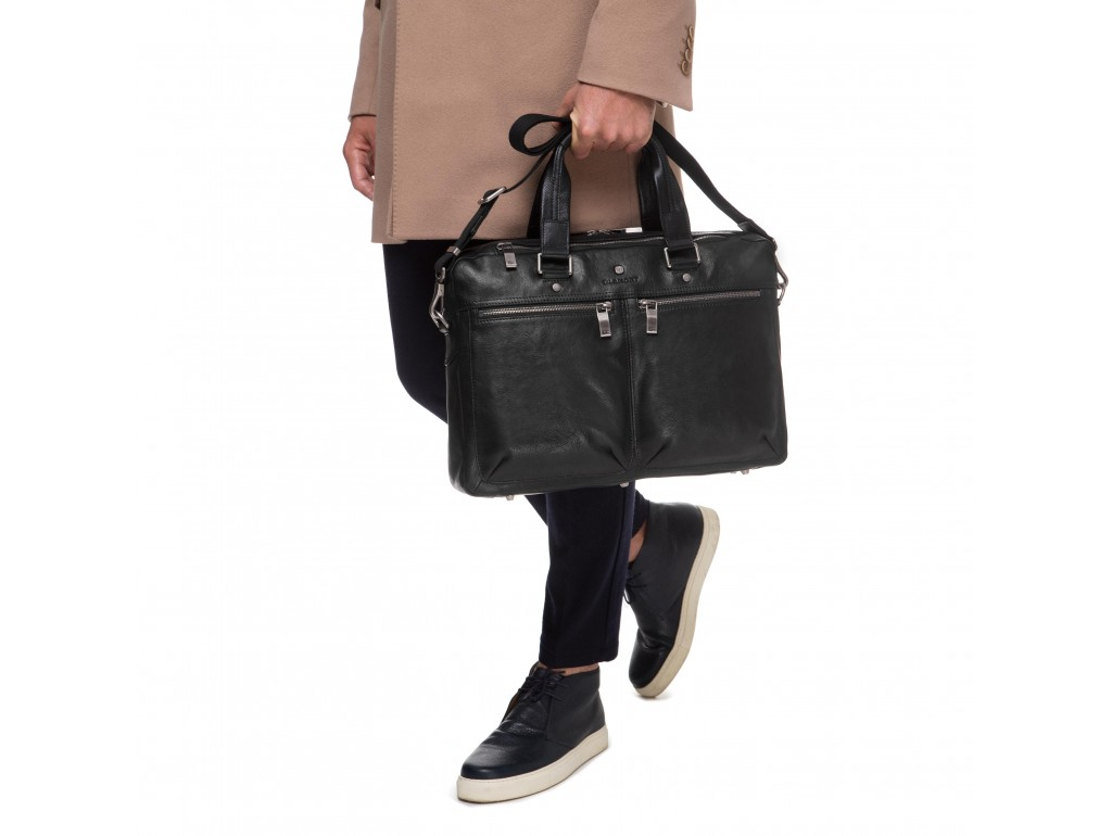 Деловая мужская кожаная сумка премиального качества Blamont P5912071 - Royalbag