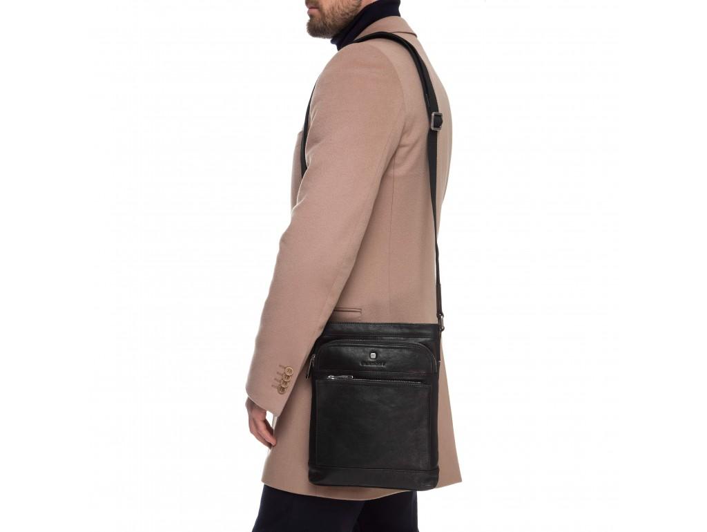 Элитная сумка-мессенджер мужская кожаная Blamont P7877721 - Royalbag