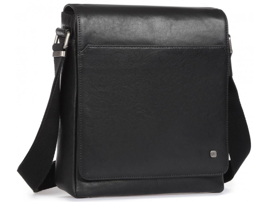 Элитная мужская кожаная сумка чрезе плечо с клапаном Blamont P7912021 - Royalbag