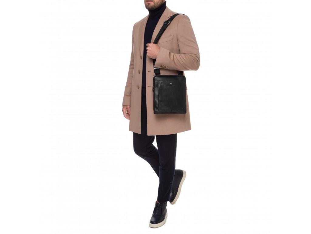 Функциональная сумка через плечо мужская кожаная Blamont P7912031