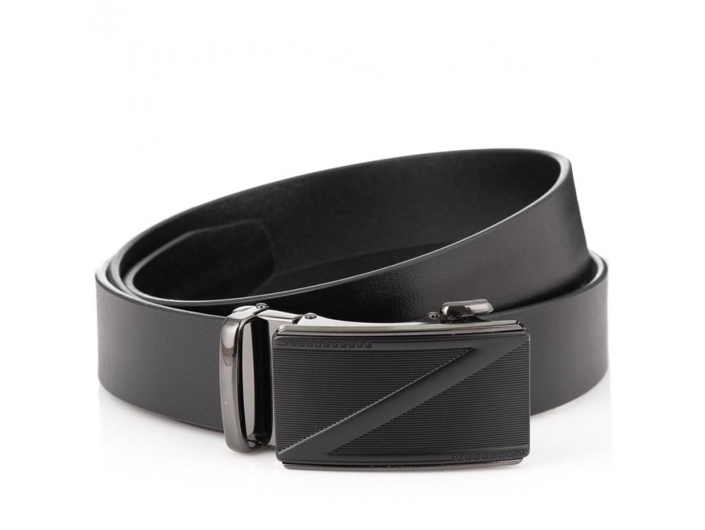 Кожаный черный ремень Colmen A23-101A - Royalbag