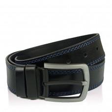 Мужской кожаный ремень черного цвета Colmen BCH01-S-MC4502A - Royalbag
