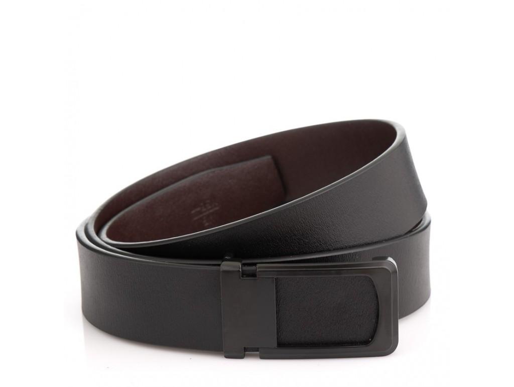 Мужской кожаный ремень черного цвета Colmen R01-A66A - Royalbag Фото 1