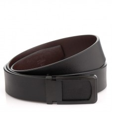 Мужской кожаный ремень черного цвета Colmen R01-A66A - Royalbag