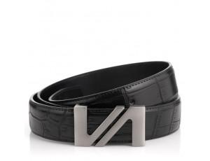 Мужской кожаный черный ремень Colmen R01-A67A - Royalbag