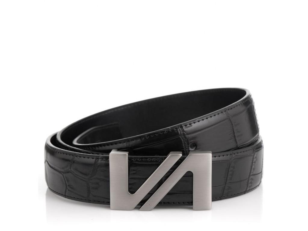Мужской кожаный черный ремень Colmen R01-A67A - Royalbag Фото 1