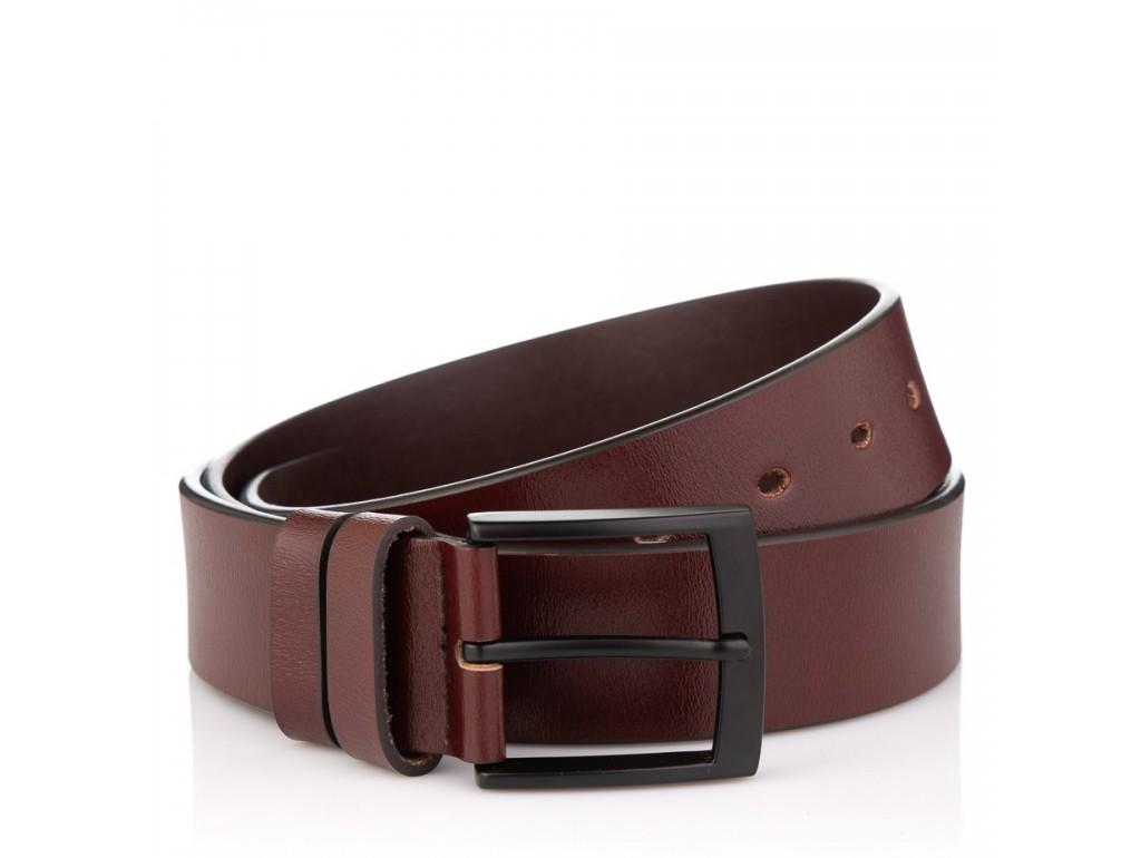 Коричневый кожаный ремень Colmen R01-A72B - Royalbag Фото 1