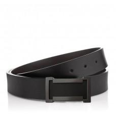 Ремень мужской кожаный черный с гладкой фактурой Colmen S-R01-A102A - Royalbag