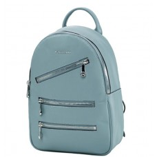 Женский кожаный рюкзак голубой молодежный Forstmann F-P117BL - Royalbag