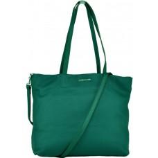Женская кожаная сумка-шоппер зеленая Forstmann F-P12PETR - Royalbag