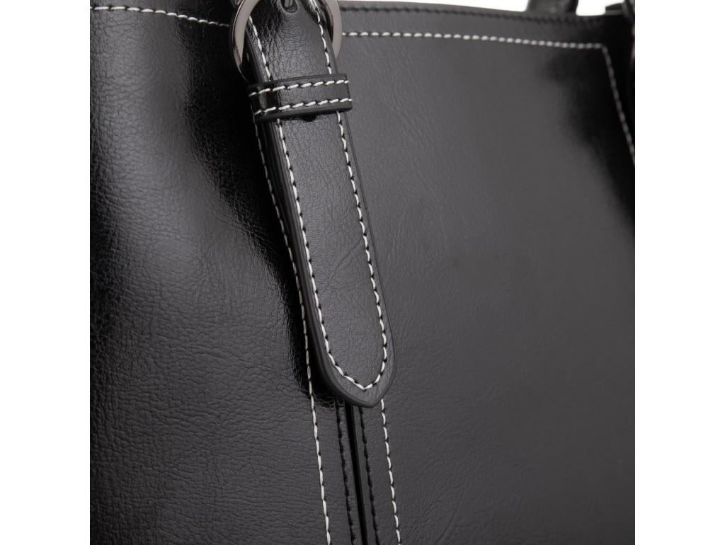 Женская кожаная сумка черная Grays GR3-8501A - Royalbag