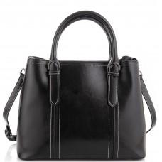 Жіноча шкіряна сумка чорна Grays GR3-8501A - Royalbag