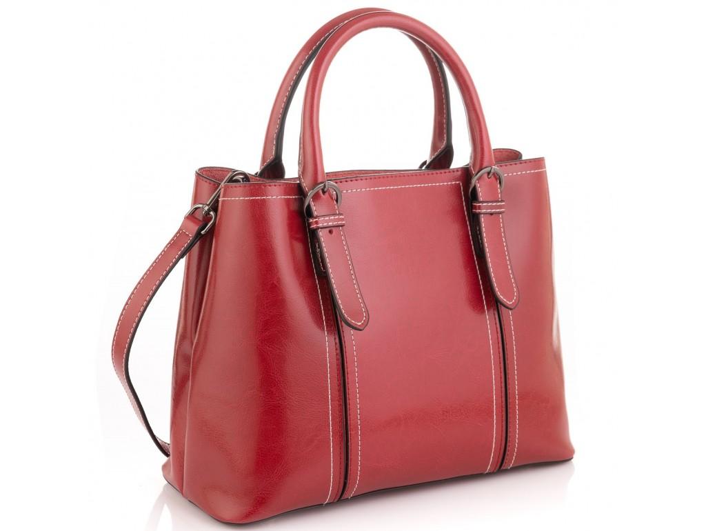 Женская кожаная сумка бордовая Grays GR3-8501R - Royalbag