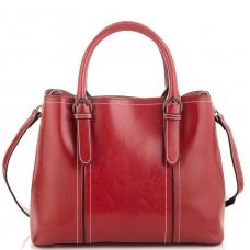 Жіноча шкіряна сумка бордова Grays GR3-8501R - Royalbag