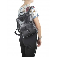 Жіночий чорний рюкзак Grays GR-830A-BP - Royalbag