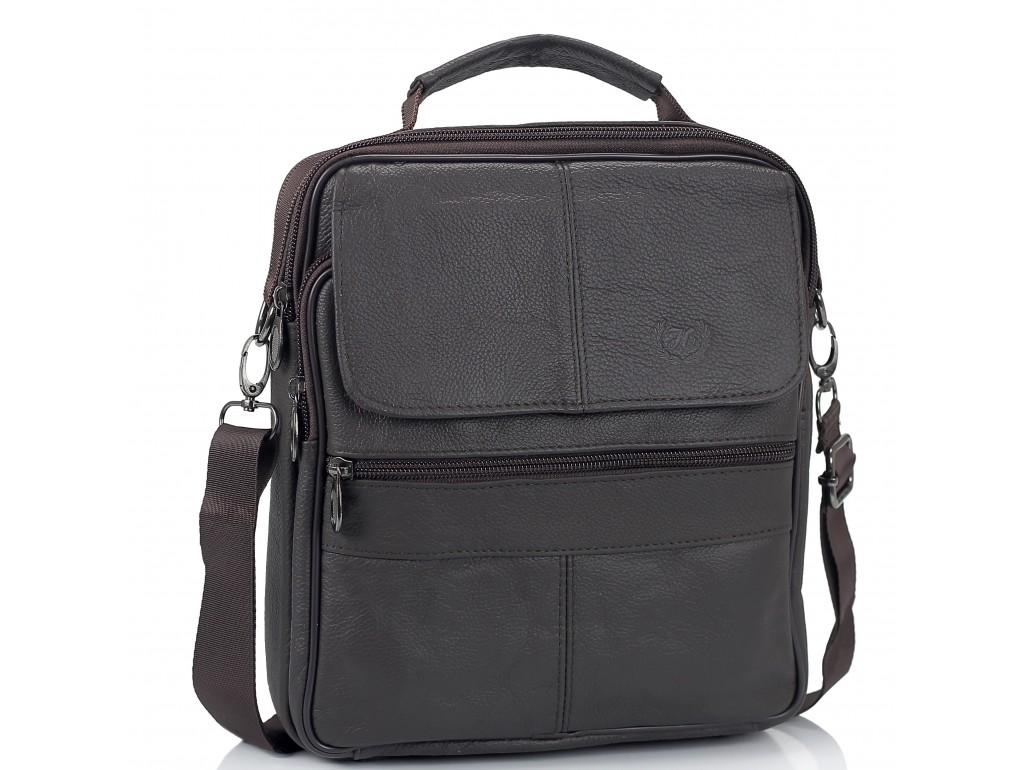 Шкіряний чоловічий месенджер HD Leather NM24-110C - Royalbag Фото 1
