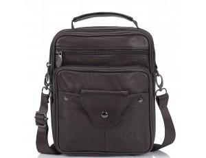 Сумка мессенджер коричневая HD Leather NM24-201C - Royalbag