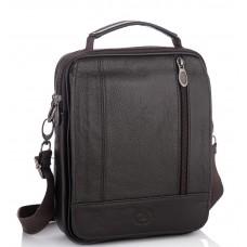 Мужская кожаная сумка-барсетка с плечевым ремнем коричневая HD Leather NM24-213C-1 - Royalbag Фото 2