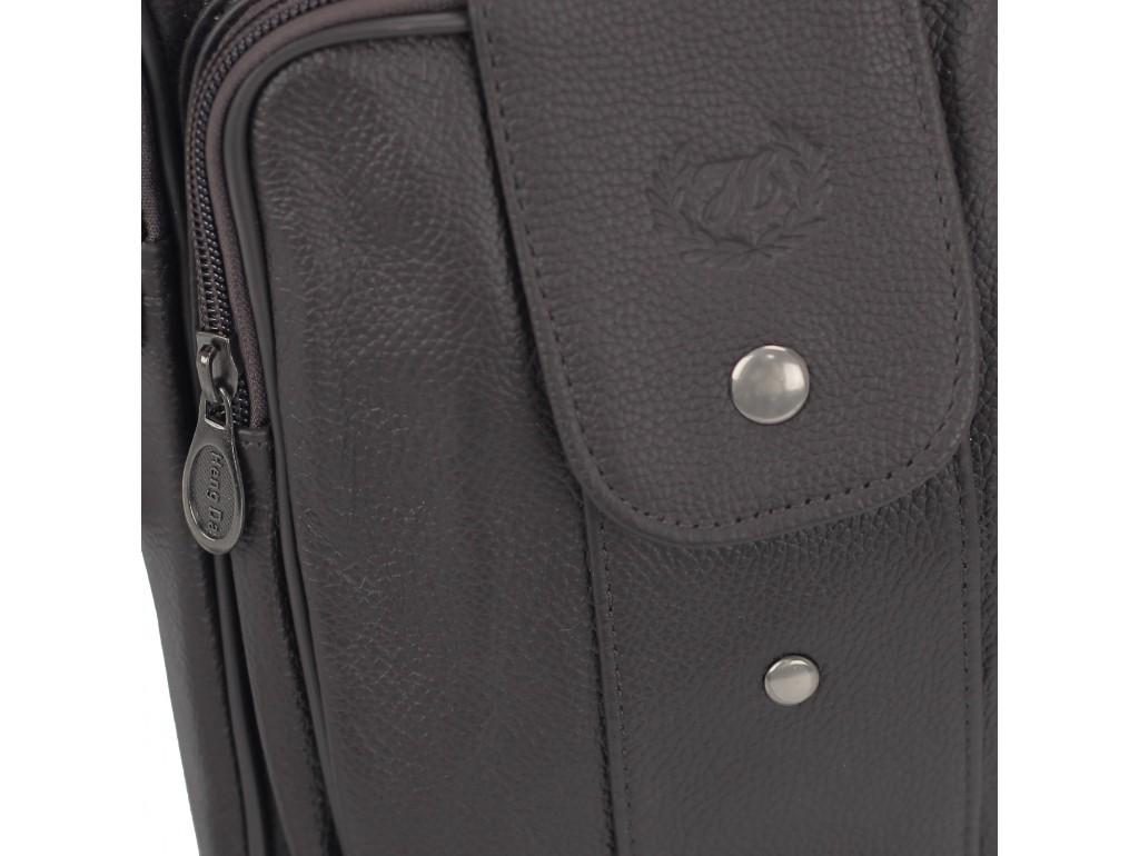 Мужская кожаная сумка-барсетка коричневая HD Leather NM24-216C - Royalbag