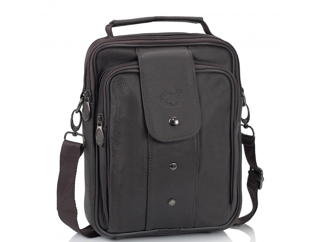 Мужская кожаная сумка-барсетка коричневая HD Leather NM24-216C - Royalbag Фото 1