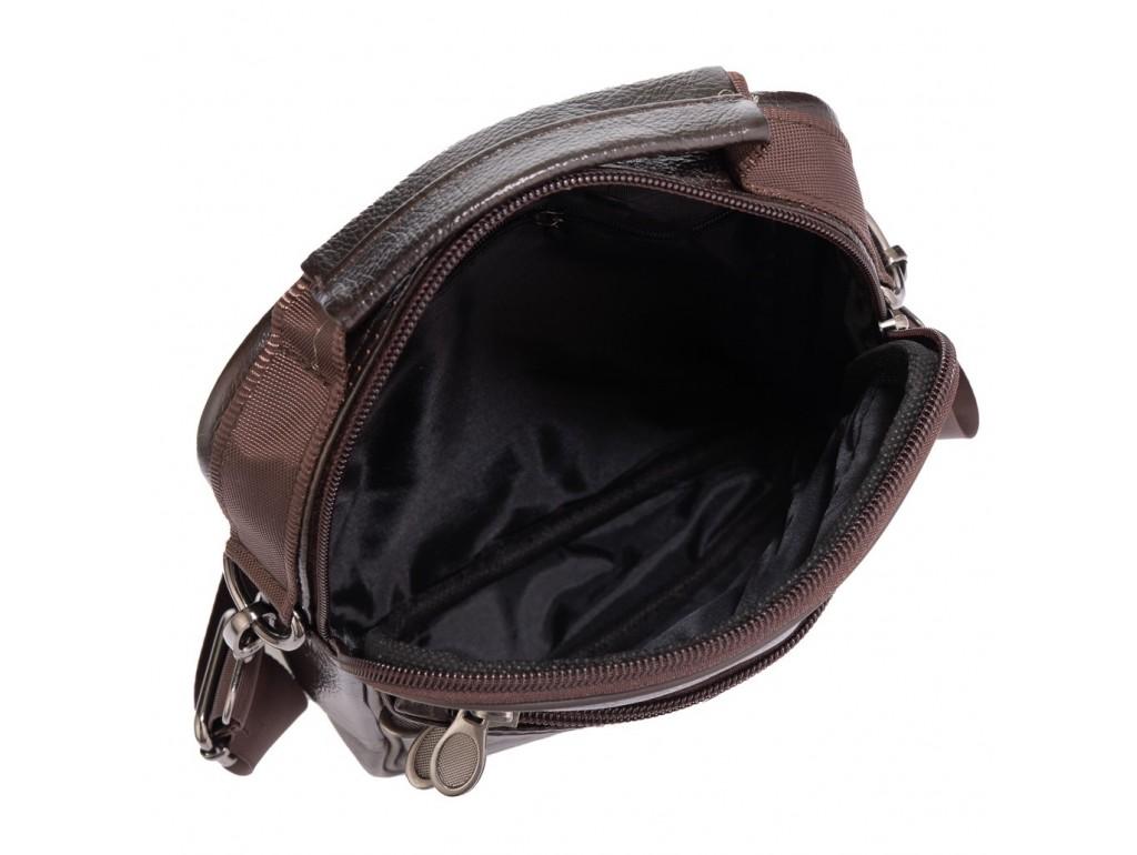 Коричневая мужская сумка мессенджер HD Leather NM24-218C  - Royalbag
