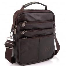 Коричневая мужская сумка мессенджер HD Leather NM24-218C  - Royalbag Фото 2