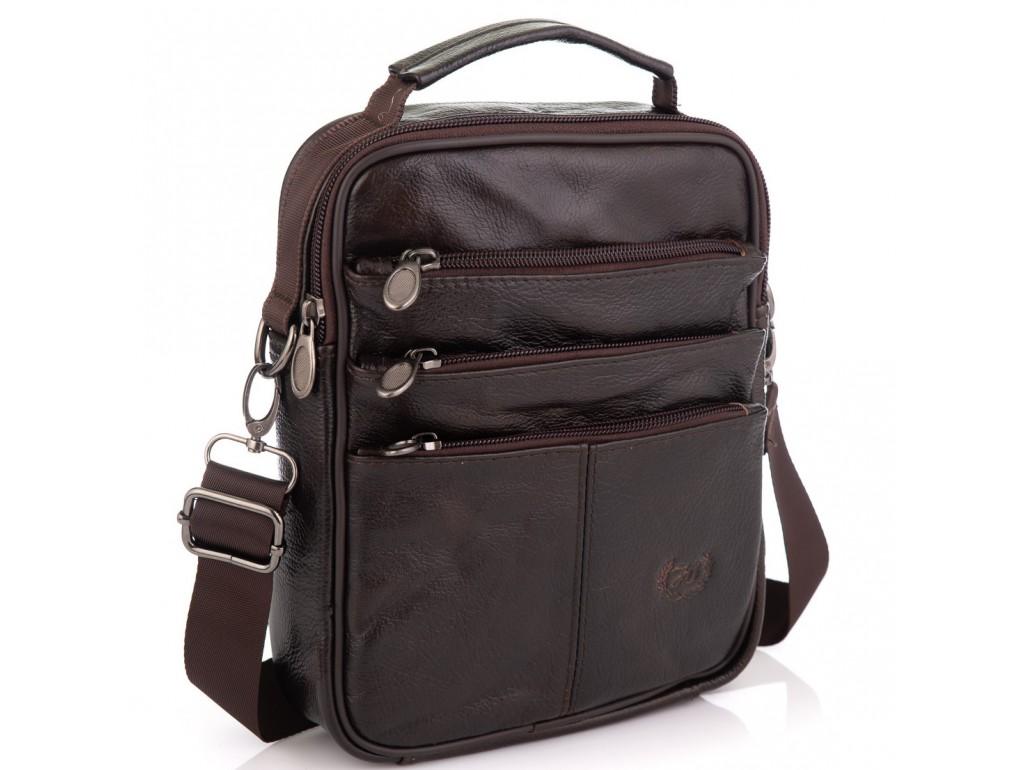 Коричневая мужская сумка мессенджер HD Leather NM24-218C  - Royalbag Фото 1