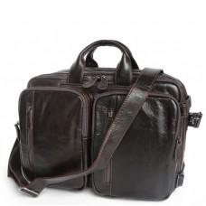 Сумка-трансформер рюкзак мужской кожаный Jasper&Maine 7014Q-2 - Royalbag
